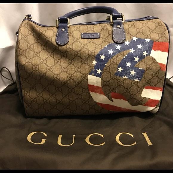 b727ef0dab26 Gucci Bags | Gg American Flag Collection Boston Bag | Poshmark